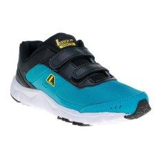 League Phantom Kids Velcro Sepatu Lari - Capri Breze-Hitam-Vibrant Or
