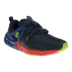 League Poste Run Sepatu Lari - Hitam-Navy Blue-Fiery Red