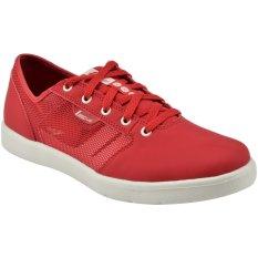 Review League Sepatu Casual Floow Merah Putih