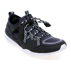 Jual League Stride X River Jr Lifestyle Shoes Sepatu Lari Pria Nine Iron Hitam Putih Lengkap