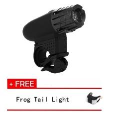 LED Sepeda Depan USB Lampu Bersepeda Rechargeable 360 Desain Putar Super Bright 200 Lumens LED Off Road Bicycle Light (beli LED Lampu Sepeda Depan Dapatkan Frog Tail Light Free) -Intl