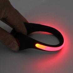 Harga Hemat Led Bercahaya Lampu Klip Sepatu Malam Peringatan Keselamatan Bersepeda Olahraga Lari Merah