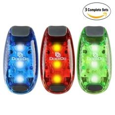 LED Safety Light (3 Pack) + Bonus GRATIS | Klip On Strobe/RunningLights untuk Pelari. Anjing. Bike. Jalan | Tinggi Terbaik VisibilityAccessories untuk Reflektif Anda Gear. Sepeda Dll-Intl