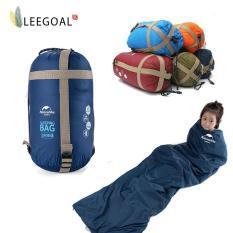 Leegoal Dpt Berkemah Di Luar Ruangan Amplop Sleeping Bag Biru Tua Terbaru