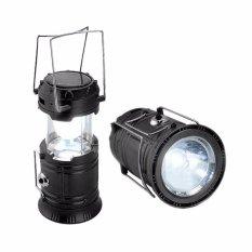 Lentera camping Rechargeable Light 6 LED dengan Senter/ Lampu Camping Tenaga Solar - 5700T