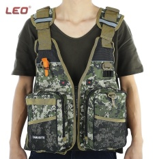 Diskon Produk Leo Outdoor Digital Kamuflase Life Jacket Fishing Vest