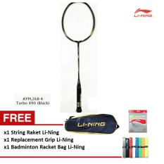 Review Toko Li Ning Badminton Racket Turbo X 90 Black Gratis Tas Raket Extra Grip String Li Ning