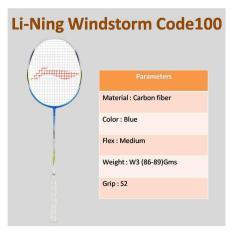 Beli Lining Raket Badminton Windstorm Code 100 Blue Online North Sumatra