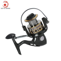 Iklan Lieyuwang 12 1Bb Full Metal Fishing Spinning Reel With Exchangeable Handle Ga5000 Black Grey Intl