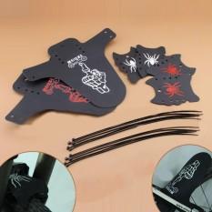 Ringan Portabel Keren Pola Lipat Tahan Lama Mudah Dipasang Jalan MTB Sepeda Sepeda Mudguard Belakang Menjaga Fender Set Warna: merah Keterangan: Set-Internasional