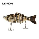 Beli Lixada 100Mm 13G 3 9 7 Segmen Multi Jointed Hard Fishing Lure Hidup Seperti Swimbait Engkol Bait 2 Treble Kait Vmc Baru