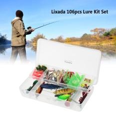 Review Lixada 106Pcs Lure Kit Set Spinner Crankbait Minnow Popper Vib Paillette Soft Hard Spoon Crank Baits Fishing Hooks Plier Intl