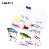 Beli Lixada 45 Pcs Fishing Lures Umpan Crankbaits Vib Spinnerbaits Popper Umpan Lembut Memancing Kait Topwater Lures Tackle Box Fishing Gear Lures Kit Set Lengkap