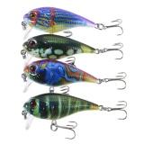 Harga Lixada 4 Pcs 3 9 M Menyelam Crankbait Fishing Lures 9G 55Mm Umpan Buatan Memancing Memancing Keras Set Wobbler Umpan With 8 Kait Oem Terbaik