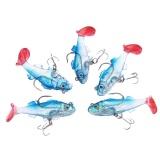 Promo Lixada 5 Pcs 6 Cm 8G Fishing Lures T Tail Memimpin Ikan Lembut Umpan Dengan Kait Internasional Oem Terbaru