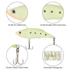 Beli Lixada 5 Pcs Plastik Keras Fishing Lures Set Box Diver Tenggelam Baits Minnow Pensil Crankbait Vib Popper Baru