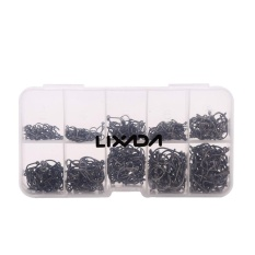Review Lixada 600Pcs Fish Jig Hooks With Hole Fishing Tackle Box 3 12 10 Sizes Carbon Steel Intl