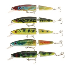 Lixada Minnow Plastic Artificial Fishing Tools Jointed Fishing Lure Jerk Fish Tackle Fake Bait High Imitation Swim Bait