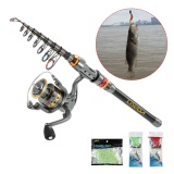 Review Terbaik Lixada Teleskopik Fishing Rod Dan Reel Combo Full Kit Spinning Fishing Reel Gear Organizer Pole Set Dengan 100 M Fishing Line Lures Kait Dan Perikanan Carrier Bag Case Fishing Aksesoris Intl