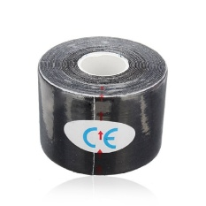LLS 1 Roll Sports Kinesiology Muscles Care Fitness Athletic Health Tape5m * 5Cm (Black) - intl
