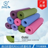 Toko Lls 6Mm Tep Yoga Mat Hambar Pelebaran Panjang Green Fitness Sportsbeginners Double Sided Non Slip Mats Intl Oem