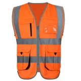 Jual Lls Rompi Keselamatan Reflektif Rompi Reflektif Multipaket Workwear Safety Waistcoat Orange Xl Ukuran Intl Oem Murah
