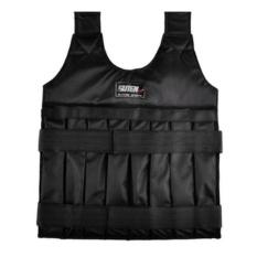LLS Suteng 50 Kg Rompi Tertimbang dengan Shoulder Pads Nyaman Weightjacket Adjustable Sanda Latihan Tinju Pasir