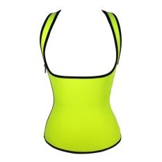 LLS Womens Slimming Shapewear Sauna T-Shirt Support dan Sweatenhancing Neoprene Thermal Tank Top untuk Weight Loss Reversible Sidezip Kapur S -Intl