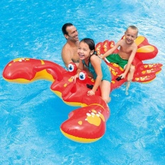 Lobster Shape Kids Inflatable Double Swimming Pool Seat Float BoatWater Accessory Children Swimming Ring - intl