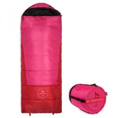 Lucky Bums Youth Explorer 30F/-1C Suhu Rated Amplop Style Sleeping Bag, Pink, 74-inch-Intl