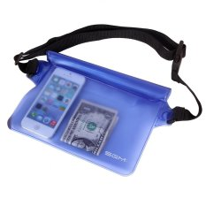 Lucky - Premium Tas Pinggang Waterproof - Sport Belt Travelling Anti Air - Biru
