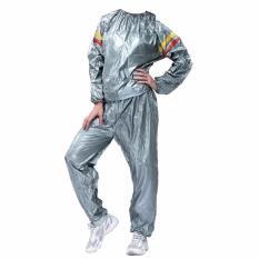 Lucky Sport Sauna Suit Size L - Baju Sauna Pembakar Lemak - Silver
