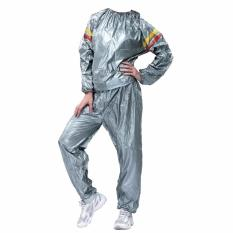 Spesifikasi Lucky Sport Sauna Suit Size Xxl Baju Sauna Pembakar Lemak Silver 1Pcs Merk Lucky