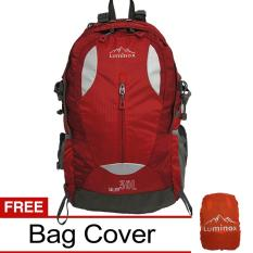 Spesifikasi Luminox Tas Hiking Backpack Ransel Travel Outdoor Carrier 5025 30 Liter Gratis Rain Cover Red Hk Terbaik
