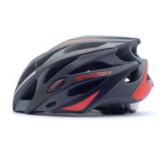 Lumiparty Bulan Adult Sport Ware Highway Helm Sepeda Gunung Jalan Bersepeda Helm L Warna: Hitam dan Merah