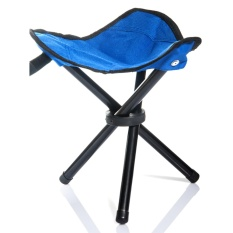 Lychee Outdoor Berkaki Tiga Lipat Folding Stool Camping Beach Fishing Chair Garden Seat Kecil Traveling Stool-Intl
