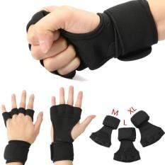 M Fitness Sarung Tangan Angkat Berat Gym Latihan Olahraga Latihan Pelatihan Pembungkus Pergelangan Tangan-Intl By Threegold.