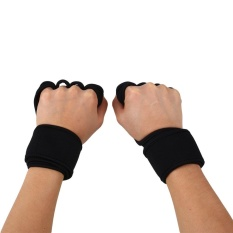 MagicWorldMall Darable Suitable Fitness Weight Lifting Gloves Gym Workout Exercise Training Wrist Wrap Strap M - intl