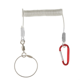 Magideal 1 4M Stretch Steel Wire Spring Coil Lanyard Rope With Swivel Ring Carabiner Intl Magideal Diskon 40