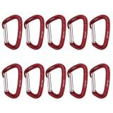 Harga Magideal 10 Pieces 24Kn Aluminium Lurus Gate Keylock Carabiner For Panjat Tebing Online Tiongkok