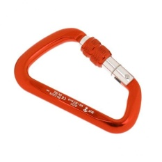 MagiDeal 30KN 6720LB Aluminum Alloy D Shape Screw Locking Climbing Carabiner Orange - intl
