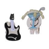 Ongkos Kirim Magideal Paduan Klip Topi Dengan Removable Golf Ball Marker Cup Gitar Internasional Di Tiongkok
