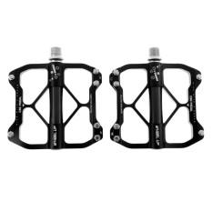 Magideal Aluminium Paduan MTB Gunung Sepeda Pedal CNC 3 Bantalan Pedal Sepeda Hitam-Internasional