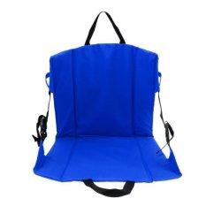 MagiDeal Folding Padded Chair Seat Cushion untuk Stadion Sepak Bola Pemutih Olahraga Biru-Intl