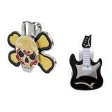Jual Magideal Guitar Hat Clip Skull Magnetic Cap Klip Golf Ball Marker Import