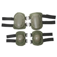 MagiDeal Olahraga Pelindung GEAR Taktis Perlindungan Knee Elbow Pad Set Hijau Tentara-Internasional