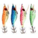 Harga M C Hot Selling Malam Fishing Lures Squid Jig Kait 9G Kayu Udang Buatan Spinner Lure Luminous Glow Bait Hijau Intl Oem Tiongkok