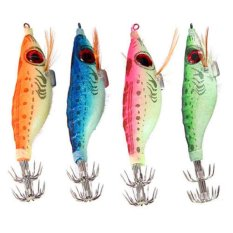 Jual M C Hot Selling Malam Fishing Lures Squid Jig Kait 9G Kayu Udang Buatan Spinner Lure Luminous Glow Bait Hijau Intl Murah