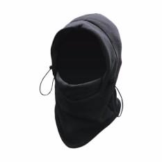 Masker Buff Balaclava Polar Multifungsi 6in1 Masker Full Face Kupluk Ninja - Hitam