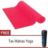 Review Matras Yoga Pilates Merah Gratis Tas Matras 6Mm Marlow Jean Di Dki Jakarta